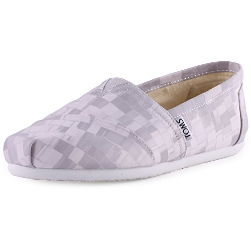 TOMS Womens Classic Dove Satin Paint Print Casual Shoe 6 Women US mPpDL