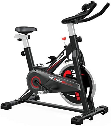 YONKFUL Exercise Bike Belt Drive Indoor Cycling Bike