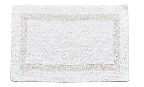 "Fancy 100% Cotton 17"" x 24"" Soft Two Sided Reversible Bath Mat 3 Colors"