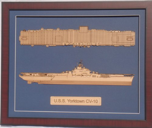 - USS Valley Forge CV-45 WWII laser cut wood model