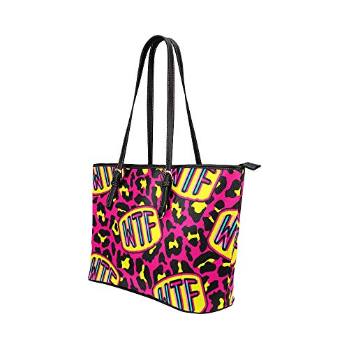 Handväska resa konst mode kreativ bokstav klotter läder handväskor väska orsaksala handväskor dragkedja axel organiserare för dam flickor kvinnor väska crossbody