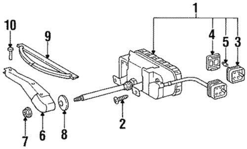 Mercedes-Benz 140 820 00 45, Headlight Wiper Blade
