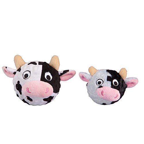 Image of fabdog Cow faball Squeaky Dog Toy (Small)