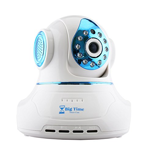 Big Time Smart Cam WiFi Baby Monitor Surveillance Camera System with 360 Degrees Pan/Tilt 2 Way Audio Night Vision...