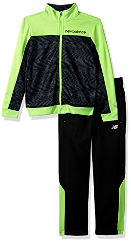 - New Balance Boys' Toddler Athletic Jacket and Pant Set, Speed/Black/Lime, 2T