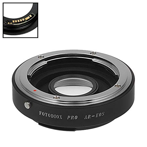 Fotodiox Pro Lens Mount Adapter Compatible with Konica Auto-Reflex (AR) SLR Lens to Canon EOS (EF, EF-S) Mount D/SLR Camera Body - with Gen10 Focus Confirmation Chip