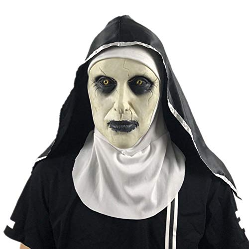 Forart The Nun Mask Halloween Mask Creepy Haunted House Prop Bloody Zombie Face Cosplay Costume