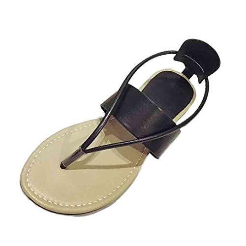 Sandalias de vestir, Ouneed ® Las señoras Bohemia ocio sandalias Peep-Toe zapatos de mujer Negro