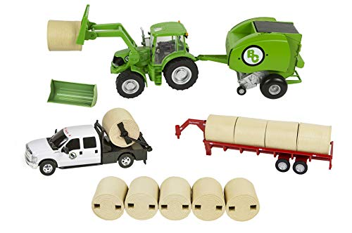 (Big Country Toys Hay Baling Set - 1:20 Scale - Hay Baling Toy Set - Farm Toys - Proprietary Blend of Plastic - Durable & Lifelike - Playable & Collectible)