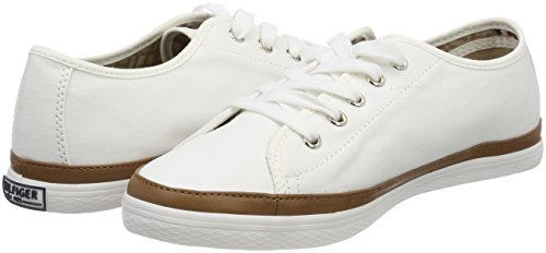 Femme Sneakers Hilfiger Basses whisper 121 Blanc Kesha Tommy Sneaker White Iconic PTOxqwg