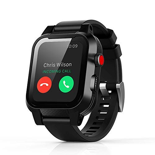 (Waterproof Case for Apple Watch Generations 3&2,IP68 Waterproof Dust-Proof Shockproof Case with Watchband for 42mm Apple Watch Black (for Apple Watch Waterproof Case))