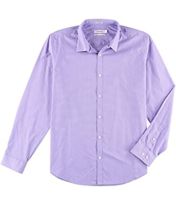 Calvin Klein Men's Big and Tall Infinite Cool Button Down Shirt