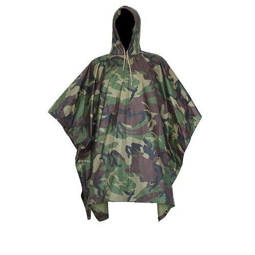 Unisex Rainwear (Unisex Men Women Multifunctional Military Camouflage Rain Poncho Rainwear Waterproof Hooded Ripstop Wet Festival Rain Coat Outdoor Sports Camping Hiking Hunting War Game)