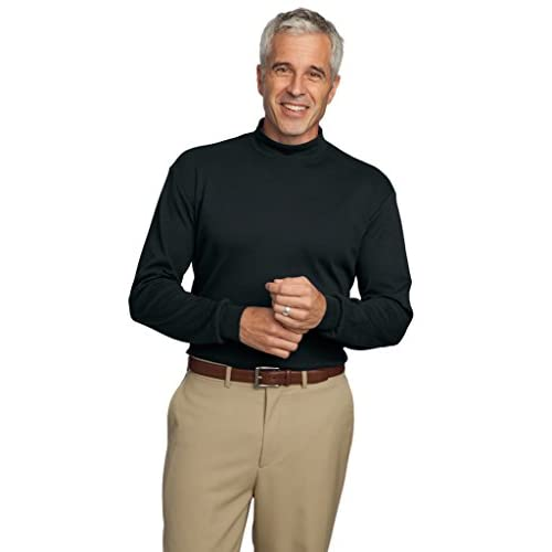 6ec7af2781d Big Mens Interlock Knit Mock Turtleneck 80%OFF - plancap.com.ar