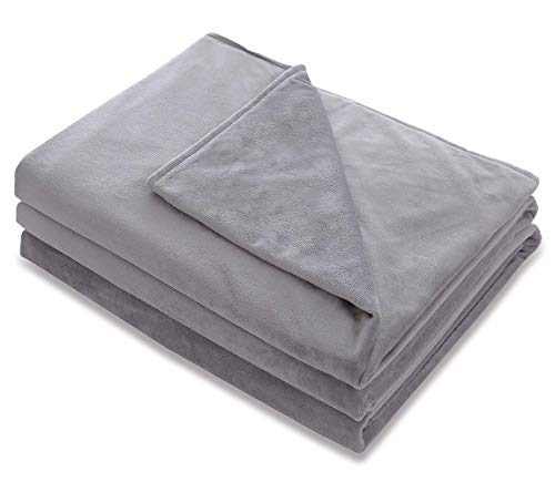 Amy Garden Premium Duvet Covers Soft Removable Cover for Weighted Blanket Inner Layer,Grey 1-36x48 (Duvet Cover ONLY)