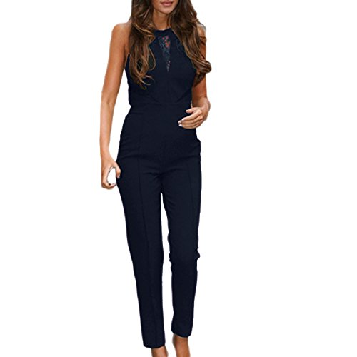 SUNNOW+Women+Black+Sleeveless+Lace+Playsuit+Club+Cocktail+Jumpsuit+Romper+%28M%2C+Blue%29