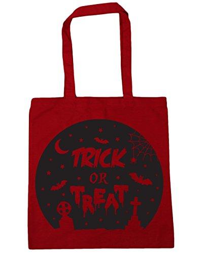 HippoWarehouse truco o trato Halloween Tote Compras Bolsa de playa 42cm x38cm, 10litros Classic Red