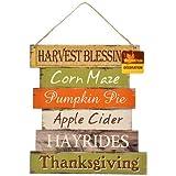 Wooden Harvest Welcome Wall/Door Hanging Sign (Thanksgiving)