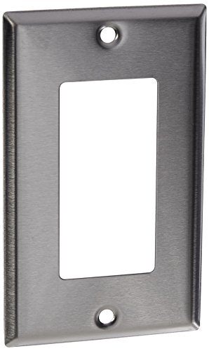(Morris 83110 430 Wall Plate, Decorative GFCI, 1 Gang, Stainless Steel)