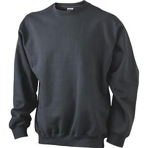 White L L,White Gr auch in /Übergr/ö/ßen - bis Gr/ö/ße 5XL JN-0.40 James+Nicholson Herren Sweatshirt