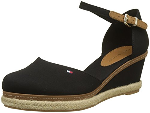 Nero Iconic Hilfiger Black Espadrillas Closed Elba Tommy Basic Toe 990 Donna q84a6xw
