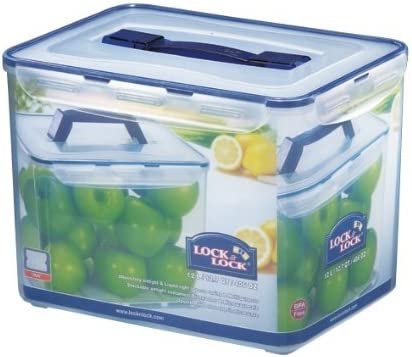 Lock & Lock Rectangular Storage Container - Clear/Blue, 12 L