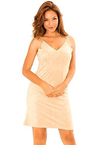 dmarkevous - Vestido - Ajustada - para mujer Beige