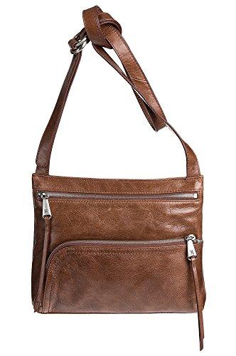[Hobo Womens Genuine Leather Vintage Cassie Crossbody Bag (Cafe)] (Hobo Purse)