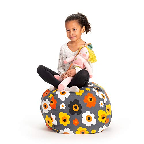 Creative QT Stuffed Animal Storage Bean Bag Chair - Standard Stuff 'n Sit Organization for Kids Toy Storage - Available in a Variety of Sizes and Colors (27