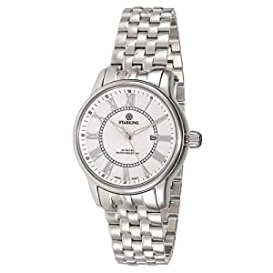 Starking Men's White Dial Stainless Steel Band Watch - BL0845SS11