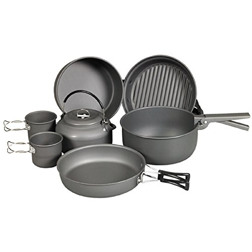 4011635 NDuR - 9Piece Cookware Mess Kit with Kettle