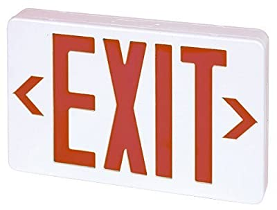 Elco Lighting EELE6 LED Exit Sign Green or Red Letters Single/Double Face Configurable