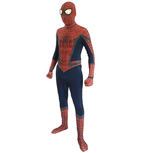 (Miles Cosplay Costume 3D Printed Spiderman Movie Suit Classic Halloween Jumpsuit for Adult)