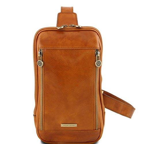 Tuscany Leather Martin - Riñonera en piel con bandolera Miel Bolsos en piel Miel