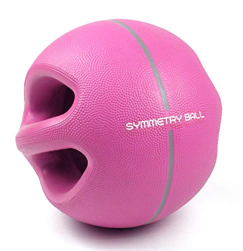 Smart Body Symmetry Ball - Patented Dual Handled Medicine Ball for Core Strength (6-Pound Purple) (Best Sports For Core Strength)