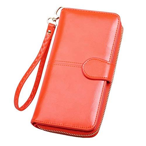 Pacchetto In Rosso Zipper Di Mano Jtsyhsignora Cera Portafoglio Carte Arancia Un Petrolio black AnXwx6T84q