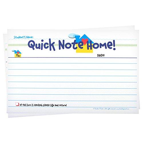 Teacher Notes Home, 50 Tablets, Teacher Peach Quick Note Home Teacher Gift
