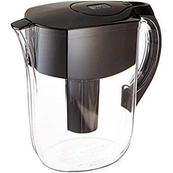 Brita Large 10 Cup Water Filter Pitcher with 1 Standard Filter, BPA Free - Grand, Black