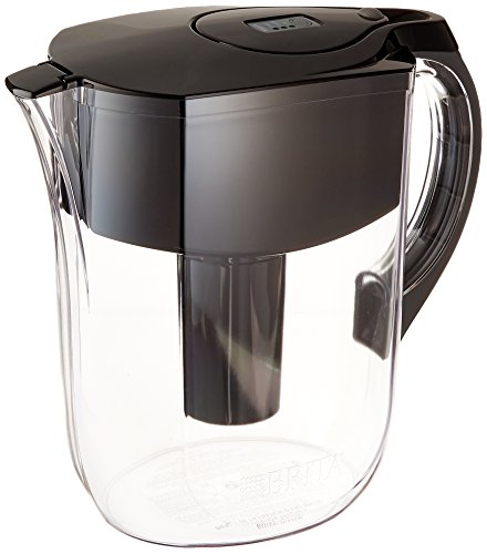 BRITA Grand Water Filter Pitcher, Black, 10 Cup