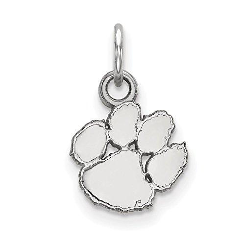 (Roy Rose Jewelry Sterling Silver LogoArt Clemson University X-small Pendant/Charm )