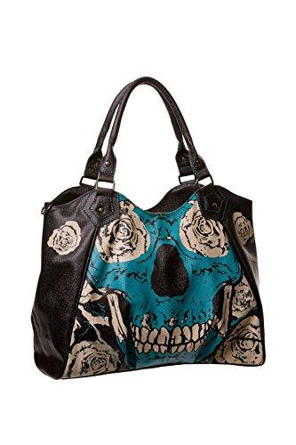 Banned-Blue-Skull-Handbag