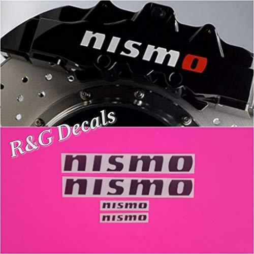 - R&G NISMO Brake Caliper HIGH TEMP Decal Sticker Set of 4 Decals (Black Matte)