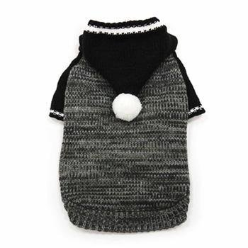 PRS Contrast Hoodie Dog Sweater by Dogo - Black