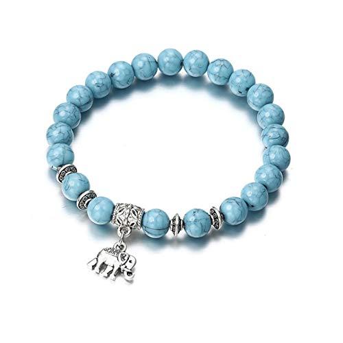 Bracelet Classic Acrylic Blue Beaded Bracelets For Men Women Best Friend Popular ns44