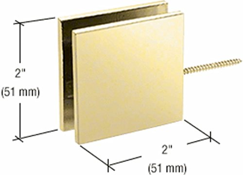 C.R. LAURENCE SGC186SB CRL Satin Brass Square Wall Mount Movable Transom Clamp (Brass Clamps Wall Mount)