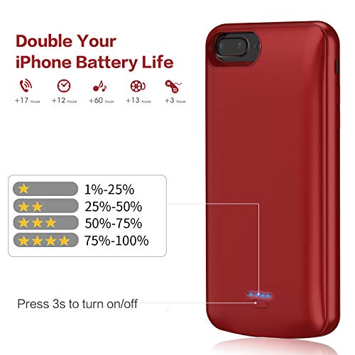 JUBOTY Battery Case for iPhone 6//6s//7//8//SE 2020 Charger Case 4.7 3000mAh Battery Charging Case Magnetic Slim Rechargeable Portable Backup Cover Battery Pack for Apple iPhone 6//6s//7//8