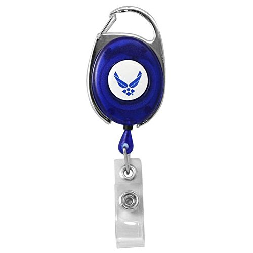 Air Force Retractable Badge Holder with Carabiner ()