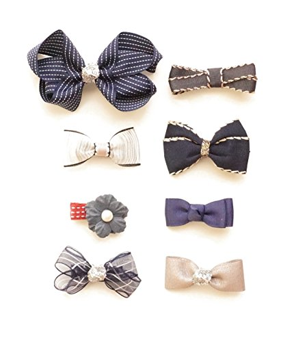 Belle Beau Baby Hair Barrettes, Baby Girl Hair Bow Clips, Toddler Hair Accessories,Baby Hair Pin (P)