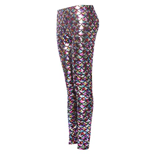 Scale Donna Ml Mermaid Sexy Fish Stretch Hibote Soft Shine 200 Leggings Hologram zwqAft