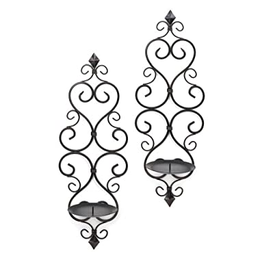 Home Locomotion Fleur De Lis Candle Wall Sconces